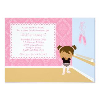 Convite de aniversário do balé