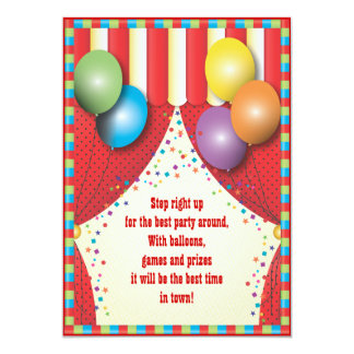 Convite de aniversário do carnaval da tenda do