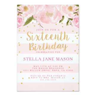 Convite de aniversário do doce dezesseis