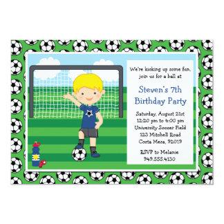 Convite de aniversário do futebol dos meninos convite 12.7 x 17.78cm