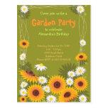Convite de aniversário do jardim da margarida & do