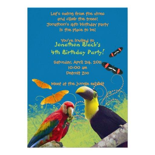 festas aniversario jardim zoologico maia:Zoo Birthday Party Invitation