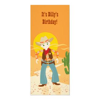 Convite de aniversário do miúdo do vaqueiro