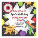 Convite de aniversário do Paintball