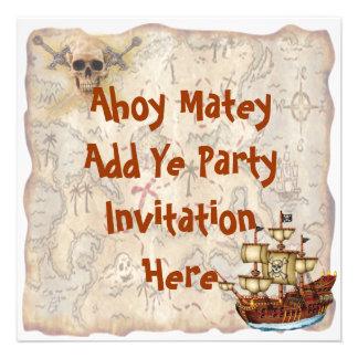 Convite de aniversário do pirata