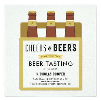 Convite de aniversário do provando da cerveja