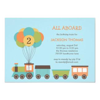 Convite de aniversário do trem do aniversário