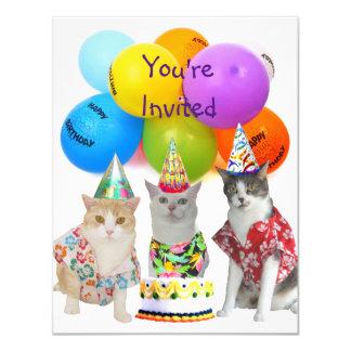 Convite de aniversário engraçado customizável dos