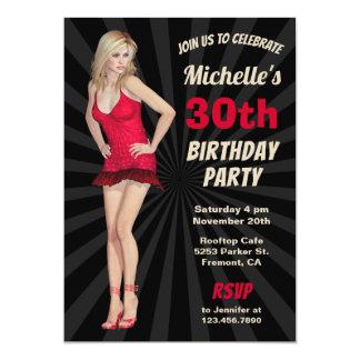 """Convite de aniversário louro quente """"sexy"""" da"""