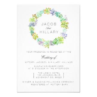 Convite de casamento da aguarela do jardim | do
