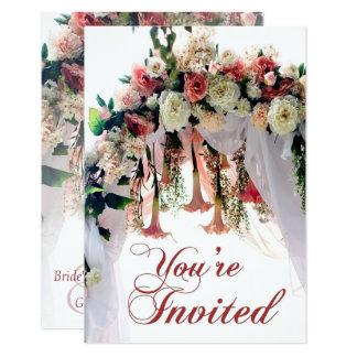 Convite de casamento do arco do casamento da flor