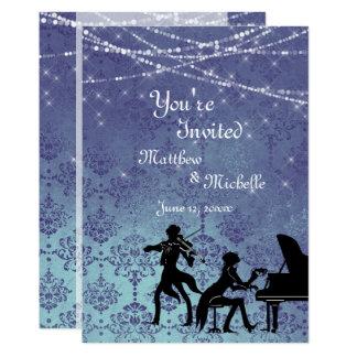 Convite de casamento Enchanted da música clássica