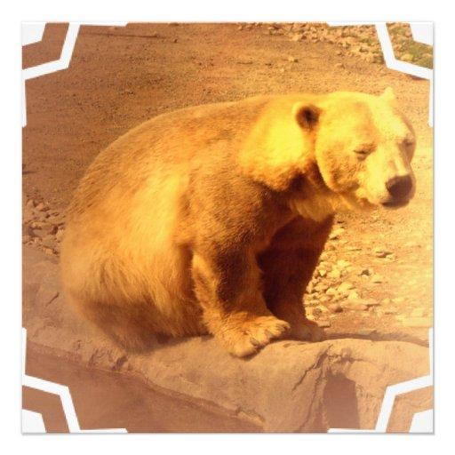 Convite de Cub de urso de Brown