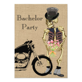 Convite de esqueleto do despedida de solteiro do