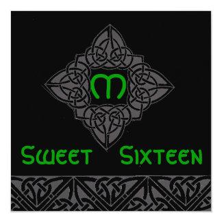 Convite de estilo celta Card-Cust. do doce