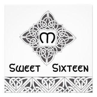 Convite de estilo celta Card-Cust. do doce dezesse