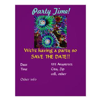 Convite de festas abstrato da margarida de Arican Flyer 21.59 X 27.94cm