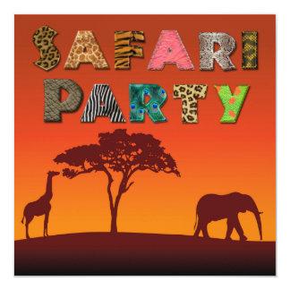Convite de festas africano da silhueta do safari