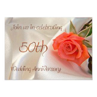 convite de festas anniverary do 50th casamento