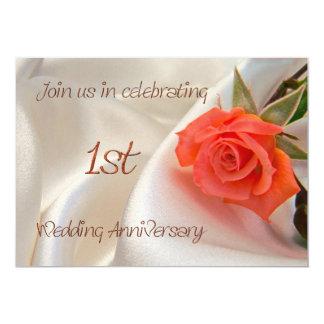 convite de festas anniverary do ø casamento