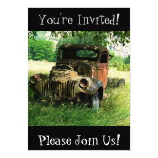 Convite de festas antigo da aposentadoria do
