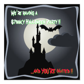 Convite de festas assustador do castelo do Dia das