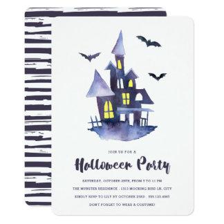 Cartão Convite de festas assustador do Dia das Bruxas da