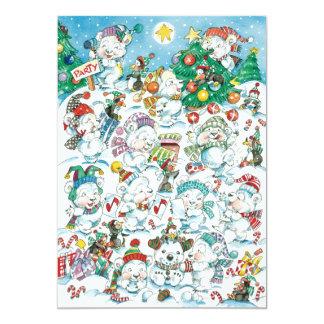 Convite de festas bonito do urso polar do Natal