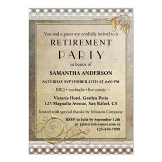 Convite de festas chique da aposentadoria do