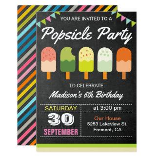 Convite de festas colorido do aniversário de