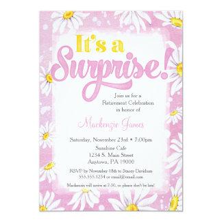 Convite de festas cor-de-rosa da aposentadoria da