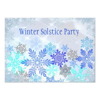 Convite de festas customizável do solstício de