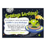 Convite de festas da alienígena de espaço -