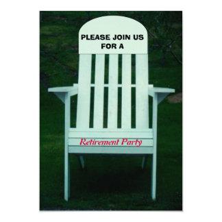 Convite de festas da aposentadoria