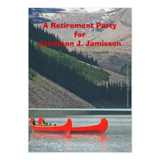 Convite de festas da aposentadoria, canoas da