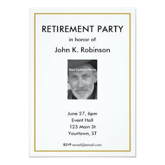Convite de festas da aposentadoria com foto feita