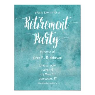 Convite de festas da aposentadoria da aguarela