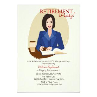 Convite de festas da aposentadoria da mulher de