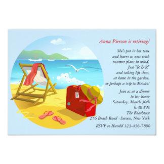 Convite de festas da aposentadoria da praia