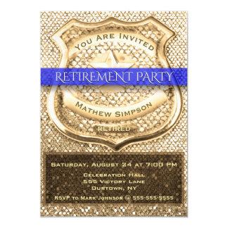 Convite de festas da aposentadoria do agente da