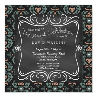 Convite de festas da aposentadoria do damasco & do