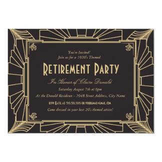 Convite de festas da aposentadoria do estilo do