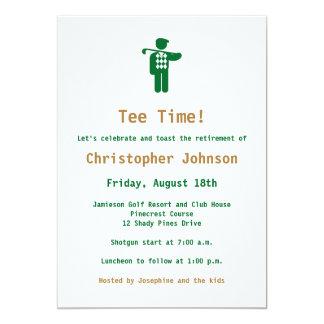 Convite de festas da aposentadoria do golfe do