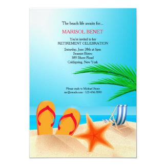 Convite de festas da aposentadoria do Sandy Beach