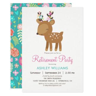 Convite de festas da aposentadoria dos cervos da