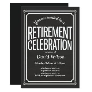 Convite de festas da aposentadoria, fundo do