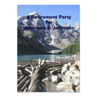 Convite de festas da aposentadoria, madeira