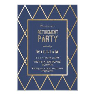 Convite de festas da aposentadoria - ouro