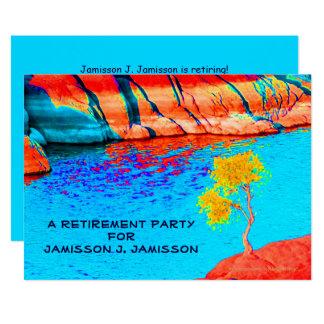 Convite de festas da aposentadoria, paisagem