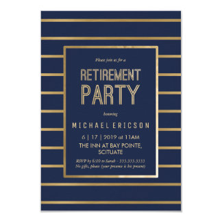 Convite de festas da aposentadoria - personalize,
